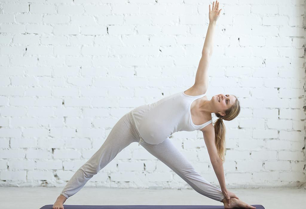 In the 2nd trimester, we add a few more asanas