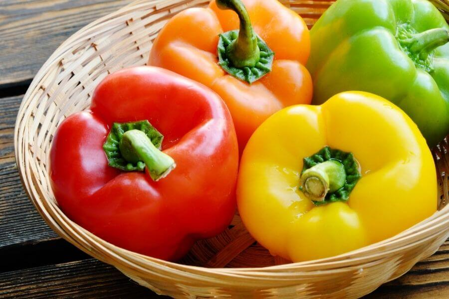 Sweet Bell Peppers Are Also Available In Red, Yellow, Or Orange Colors.